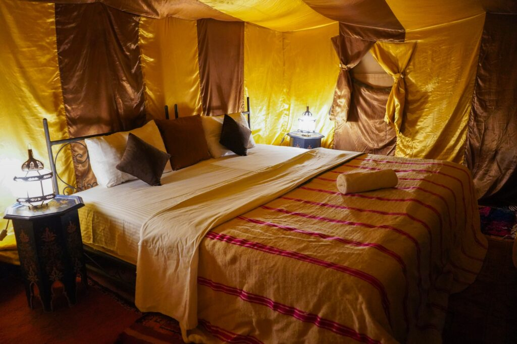 Sleep under canvas at the Camp Al Koutban, Morocco desert camp